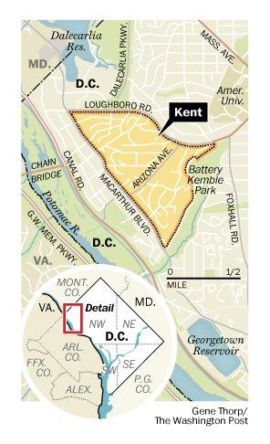Kent, a historic enclave in Northwest Washington DC